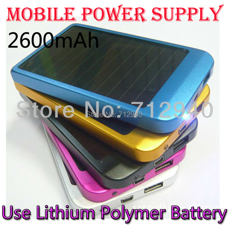 Polycry Stalline Solar Mobile Power Supply 2600 mAh Panel Charger External Battery Phone Charge - Shenzhen Qixin Technology Co.,Ltd store