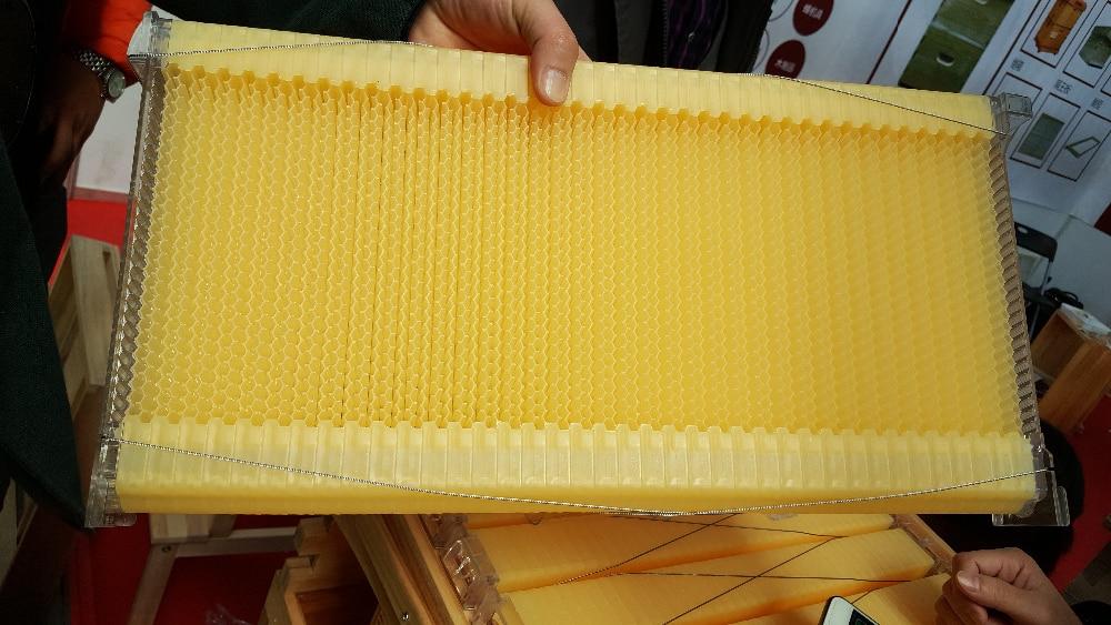 ₩7 unidades Flujo de miel marco plástico de la colmena/flujo de miel ...