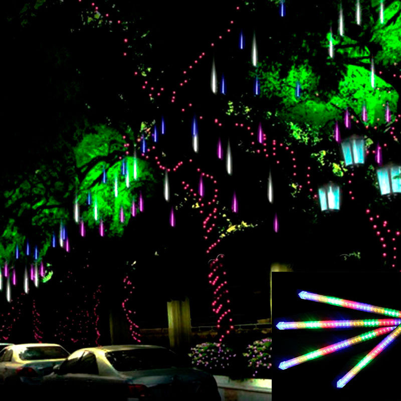 50cm Decorative Light LED String Meteor Shower Rain Tubes 100-240V EU US Plug Outdoor Christmas Light LED Tree Decor