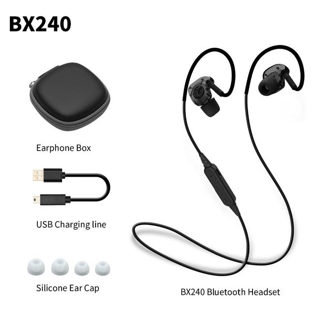 Plextone bx240 ipx5 bluetooth sem fio do fone de ouvido à prova d' água esporte fone de ouvido fones de ouvido estéreo com microfone para iphone samsung htc huawei