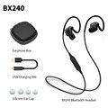 Plextone bx240 ipx5 impermeable deporte auricular bluetooth inalámbrico auriculares estéreo de auriculares con micrófono para iphone samsung htc huawei