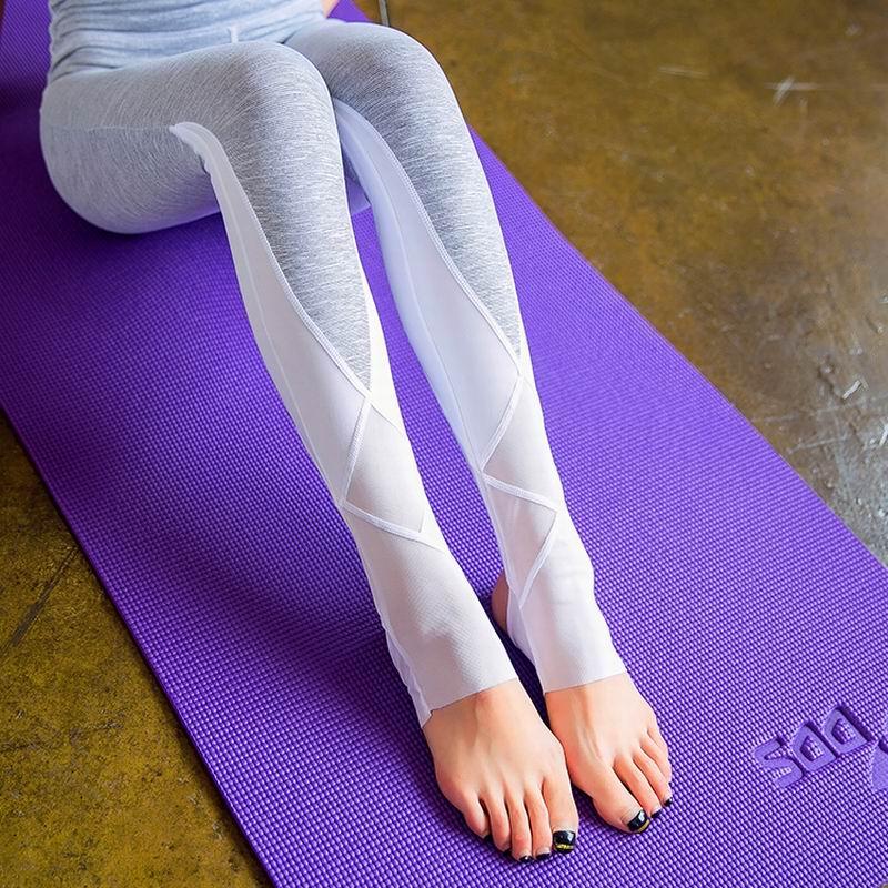 Women Sexy Yoga Pants Quick Dry Mesh Sport Pants Fitness
