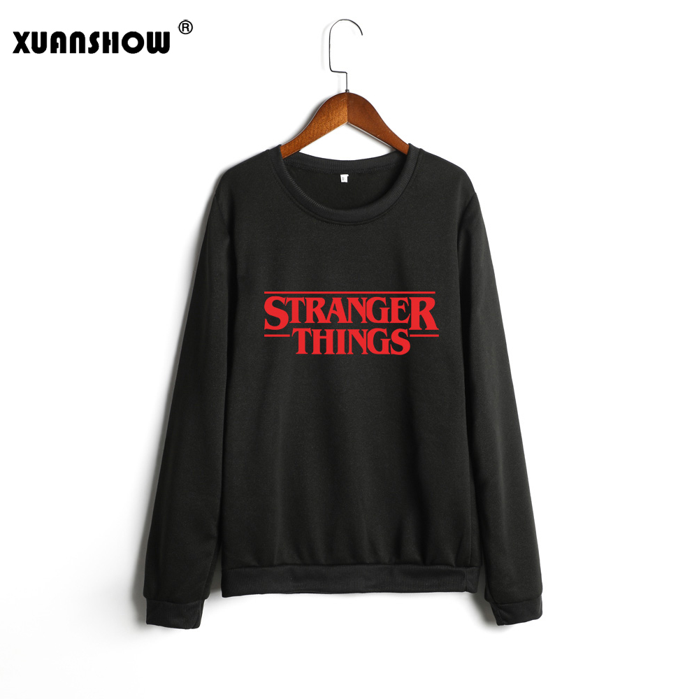 XUANSHOW 2019 New Fashion Women's Sweatshirt Printed Letter STRANGER THINGS Casual Plus Size Women Clothes Moletom Pullovers 5XL