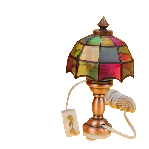 1 12 dollhouse miniature pretty color light desk table for 12v table lamp
