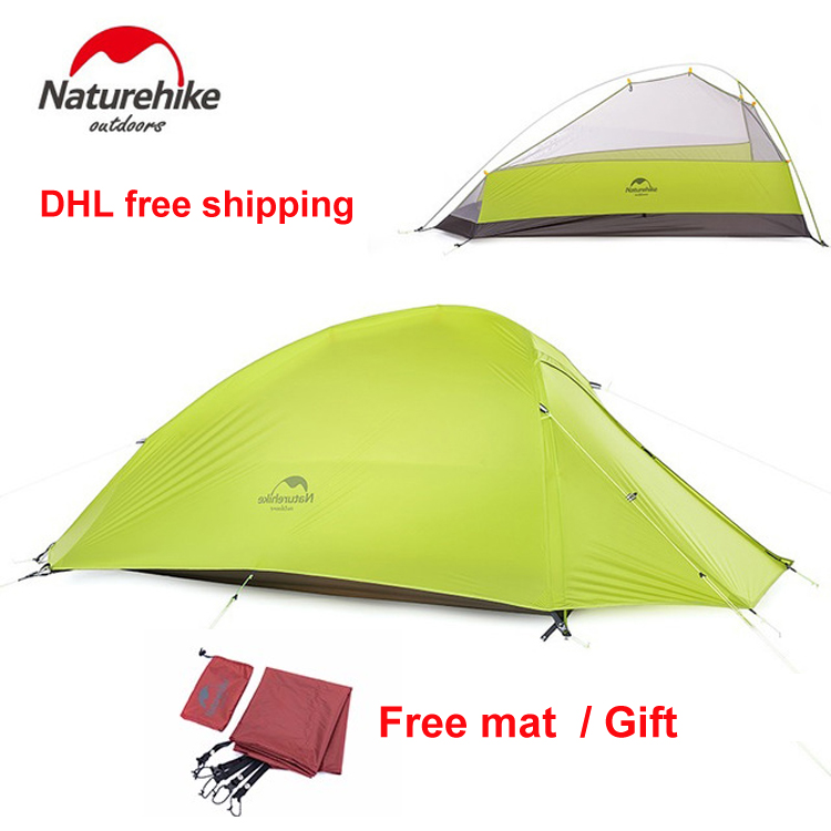 Naturehike Oudoor Ultralight Camping Cycling Hiking Tent 1 Single Person Professional 20D Nylon Silicon Coating Tent