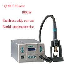 Quick 861DW lead-free hot air gun soldering station Intelligent digital display 1000W rework station