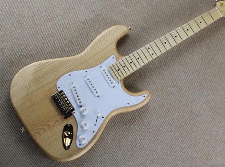 2019 nouvelle usine Firehawk personnalisé érable naturel touche tilleul corps Standard guitare électrique SSS micros matériel doré