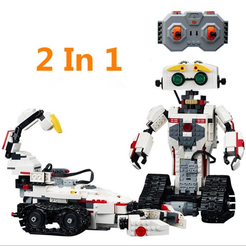 606 710 piezas bloques de construcción juguetes estilo Control remoto RC Robot juguetes para niños y niñas padres  niño interacción-in Bloques from Juguetes y pasatiempos    2