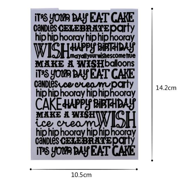 Online Shop Clock/Flower/Letters Plastic Template Embossing Folder ...