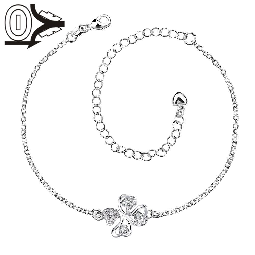 A010-B Silver Anklets New Design Large Stock Delicate Handmade Cheap Silver Plated Anklet Ladies Feet Chain Bracelets Bulk Sale