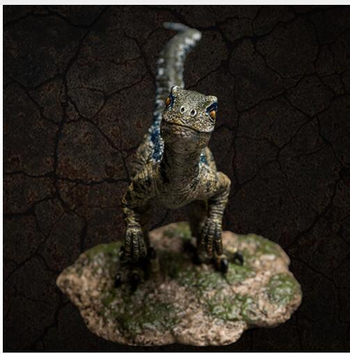מראש מכירה 2018 יורה עולם דינוזאור דגם אוסף צעצועי תחיית לנוער Velociraptor כחול מוגבל מכירה
