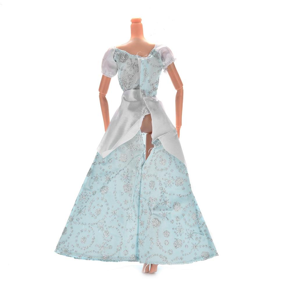 New Fashion Princess Wedding Gown Dress For Barbies Cinderella Dolls ...