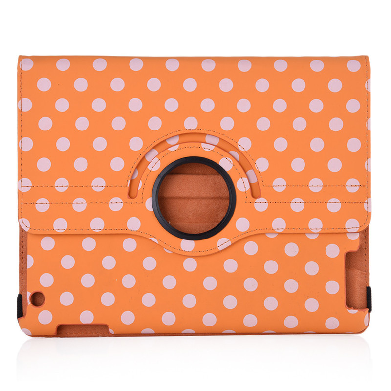 Quality Case for iPad Mini 1 /  2 / 3  Polka Dot Pattern Protective Cover 360 Degree Rotating Leather Case with Standby Function polka dot pattern protective swivel rotating pu leather case for ipad mini purple white