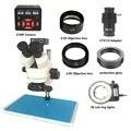 3.5X 90X Inspektion Stereo Zoom Trinocular Mikroskop 21MP HDMI USB Digitale löten mikroskop Kamera CTV1/2 adapter objektiv matte-in Mikroskope aus Werkzeug bei
