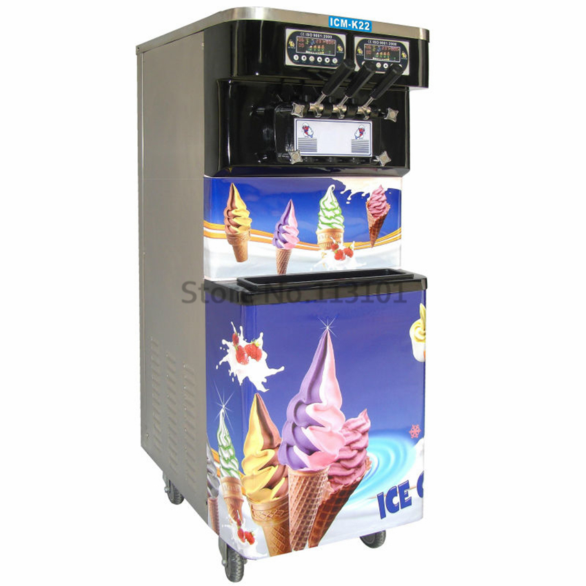 Smart Commercial Frozen Yogurt Machine with Black Color Stainless Steel BIG Capacity CE Approval Quality rapo2 black frozen mirrored gold