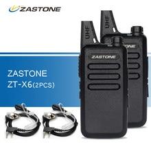 2pcs Zastone ZT-X6 Walkie Talkie UHF 400-470 MHz Portable Ham Radio Handheld CB Radio Transceiver Walkie-Talkies Handy Two-Way