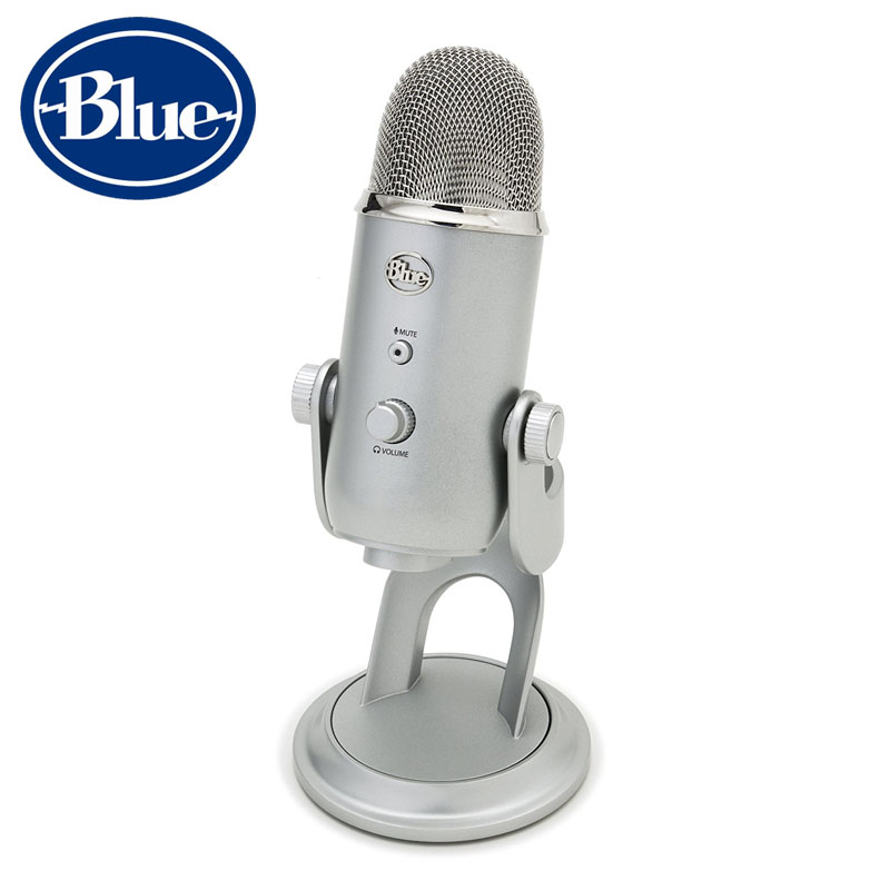 Blue Yeti USB condenser Microphone for live broadcasting and recording sound with inner sound card Plug