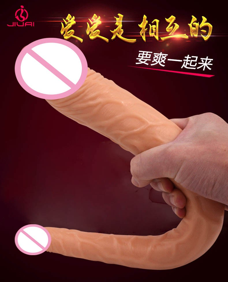long big double ended dildo woman lesbian dual dong penetration dildos artificial realistic fake penis for women gay sex toys 3