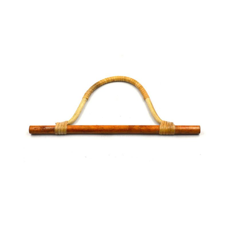 THINKTHENDO Bamboo Rattan Purse Hanger Bag Handle DIY Handbag Replacement Bag Accessories New Style Wooden Bag Frame 28x1cm