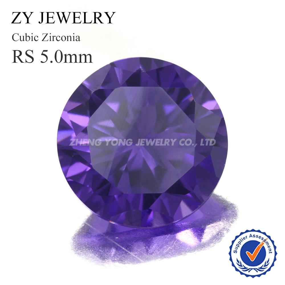 Лидер продаж 300 шт. 5A 5,0 мм круглой бриллиантовой огранки камень CZ свободные фиолетовый жемчужный бисер