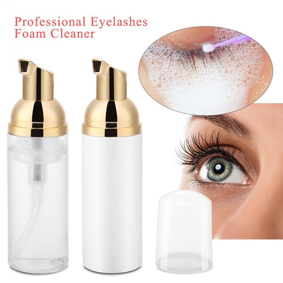 New 60ml Professional Eye Lashes Foam Cleaner Individual Eyelash Extension Cleanser Shampoo Eyelashes Detergent Makeup Remover