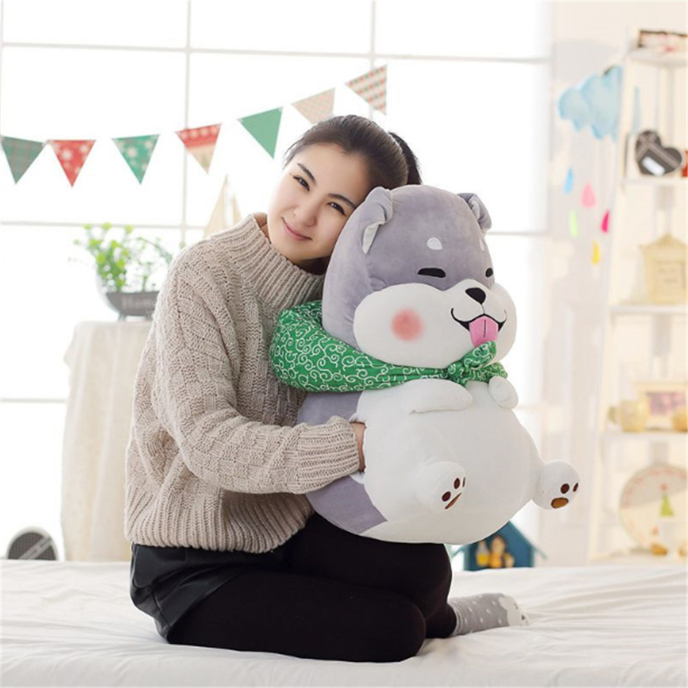 Fancytrader Animals Dog Hand Warmer Plush Toys Plush Stuffed Shiba inu Husky Dogs Doll Pillow Cushion 60cm hot sale cute dolls 60cm oblong animals pillow panda stuffed nanoparticle elephant plush toys rabbit cushion birthday gift