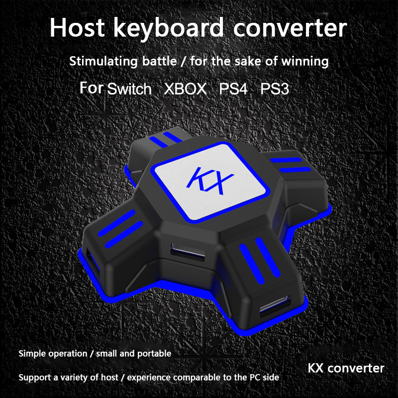 kx usb game controllers keyboard mouse adapter for nintend switch for ps4  ps3 xbox one gamepad joystick adapter converter