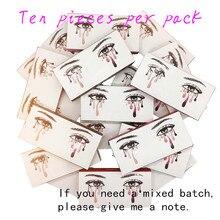 10pcs 2 pairs natural false eyelashes fake lashes makeup kit 3D Mink Lashes eyelash extension mink