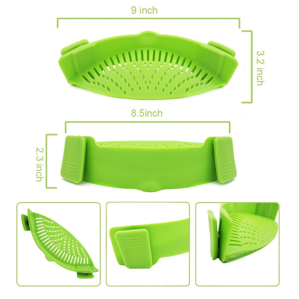 Silicone Pot Pan Bowl Funnel Strainer