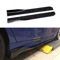 Universal All Cars Carbon Fiber Side Skirts Apron Lip for BMW E87 E90 E92 E93 F80 F82 F83 M4 F10 M5 105 CM