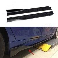 Universal All Cars Carbon Fiber Side Skirts Apron Lip for BMW E87 E90 E92 E93 F80 F82 F83 M4 F10 M5 105 CM