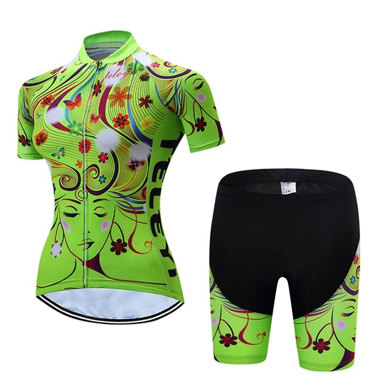 New Women s Bicycle Jersey Bib Shorts GEL Pad Road Track Race Cut Aero Bike  Jerseys Suit MTB Cycling Set Italian Wear Clothing c20554ed0