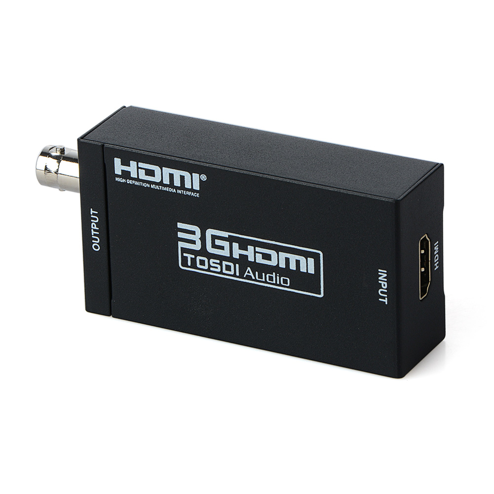 HDMI to SDI Converter Scaler Adapter 1080P MINI 3G with Coaxial Audio Output for Home Theater Cinema PC HD