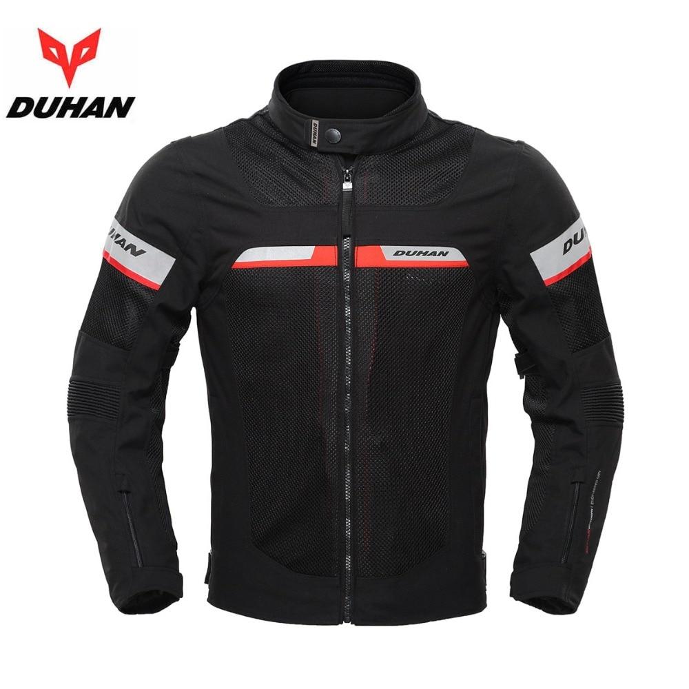 DUHAN Mesh motorcycle jacket Waterproof Liner 5 Gear Pads MOTO JACKET protactive guards refective Racing jackets