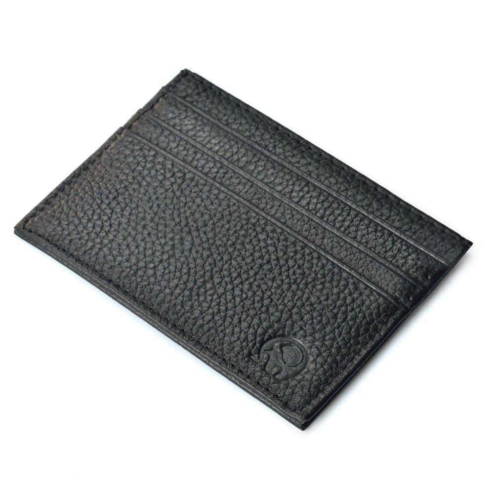 Erkek kart tutucu en düşük fiyat ince kredi kart tutucu Mini cüzdan kimliği vaka çanta çanta kılıfı siyah toptan A30