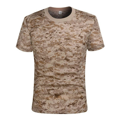 4 color breathable comfortable short-sleeved T-shirt camouflage vest security tactical protective physical training suit jacket marulong s0002 women s fashionable flower pattern short sleeved nightdress green multi color
