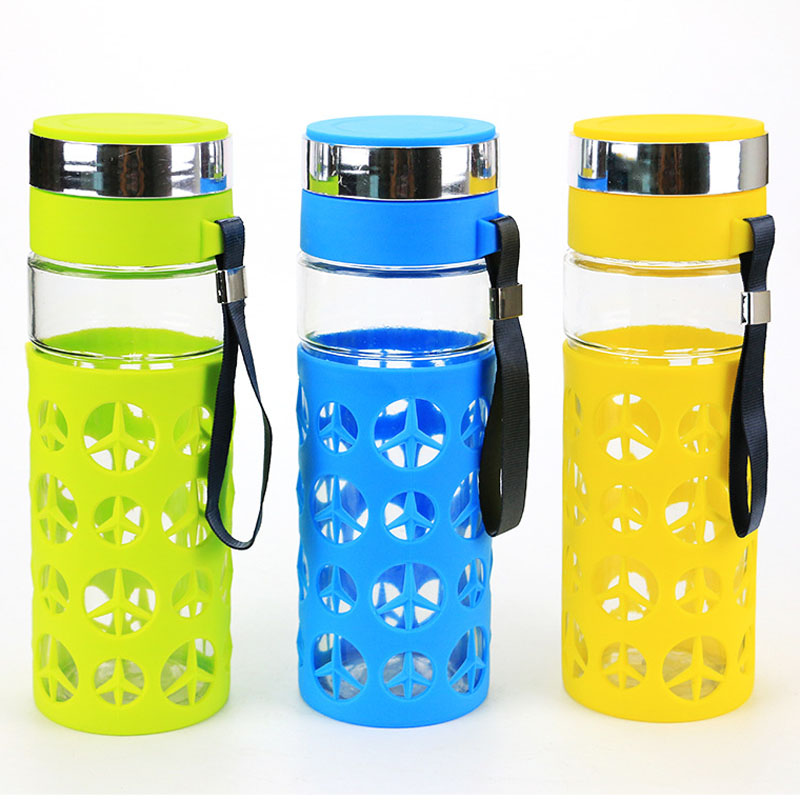 Creative Portable Glass Water Bottle 800 ML Creative Water ...