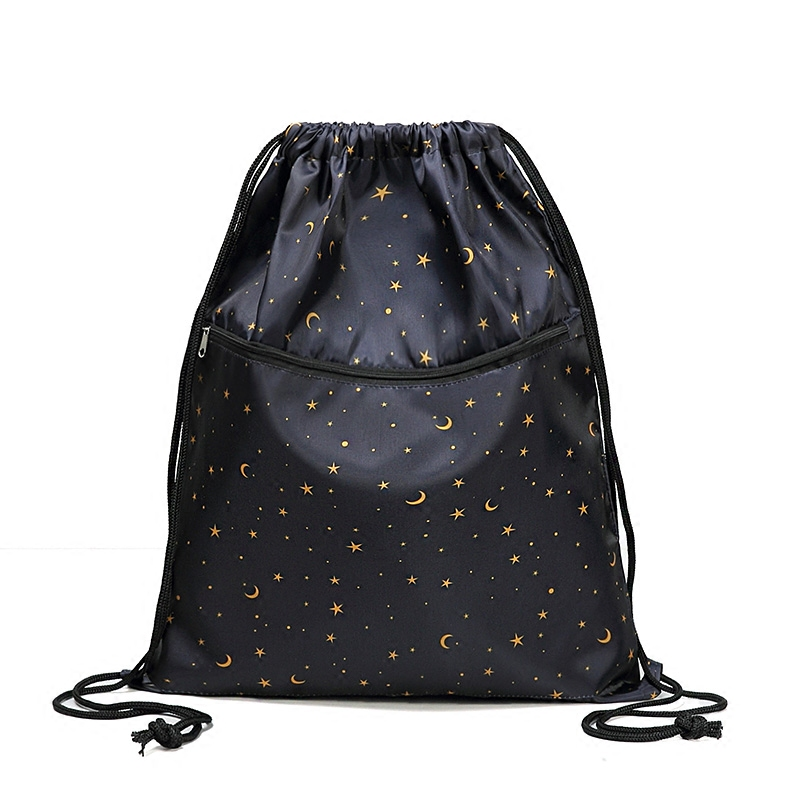 Drawstring Bag Unisex Lightweight Folding Waterproof Women Men Casual Travel Storage Package Teenage Drawstring Backpack