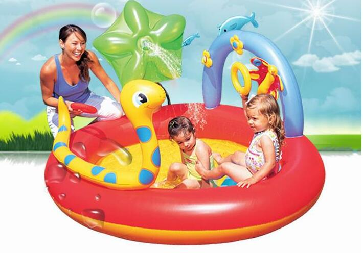 192cm Spring Eco-friendly PVC Kids Baby Inflatable Snake Play Swimming Pool Piscina Children Kids Large Swim Boat S7007 381cm eco friendly pvc kids baby inflatable slide play swimming pool piscina children kids large swim boat s7010