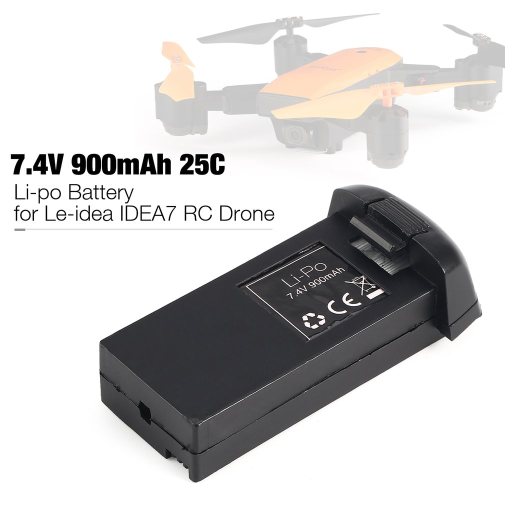 <font><b>7.4V</b></font> <font><b>900mAh</b></font> 25C 2S Li-po Rechargeable <font><b>Battery</b></font> Spare Parts Accessories for Le-idea IDEA7 <font><b>RC</b></font> Drone Quadcopter Aircraft UAV image