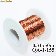 ChengHaoRan 0.31 مللي متر 50 متر/قطعة ، QA 1 155 جديد البولي يوريثين الأسلاك المصقولة النحاس سلك 50 متر/وحدة