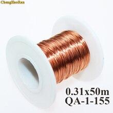 Chenghaoran 0.31mm 50 메터/개, QA 1 155 새로운 폴리 우레탄 에나멜 와이어 구리 와이어 50 메터/몫