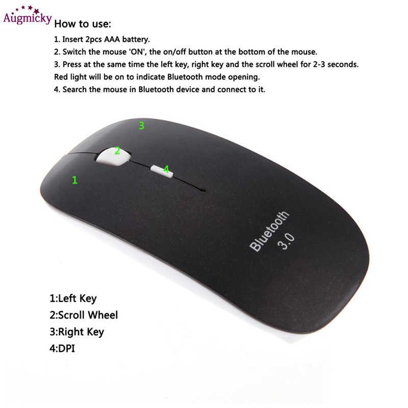 超スリム 1600 Dpi Bluetooth 3.0 ワイヤレス光学式マウスゲームオフィスマウス windows 7/8 。 0/8 。 1/10 android 用 Mac os のタブレット