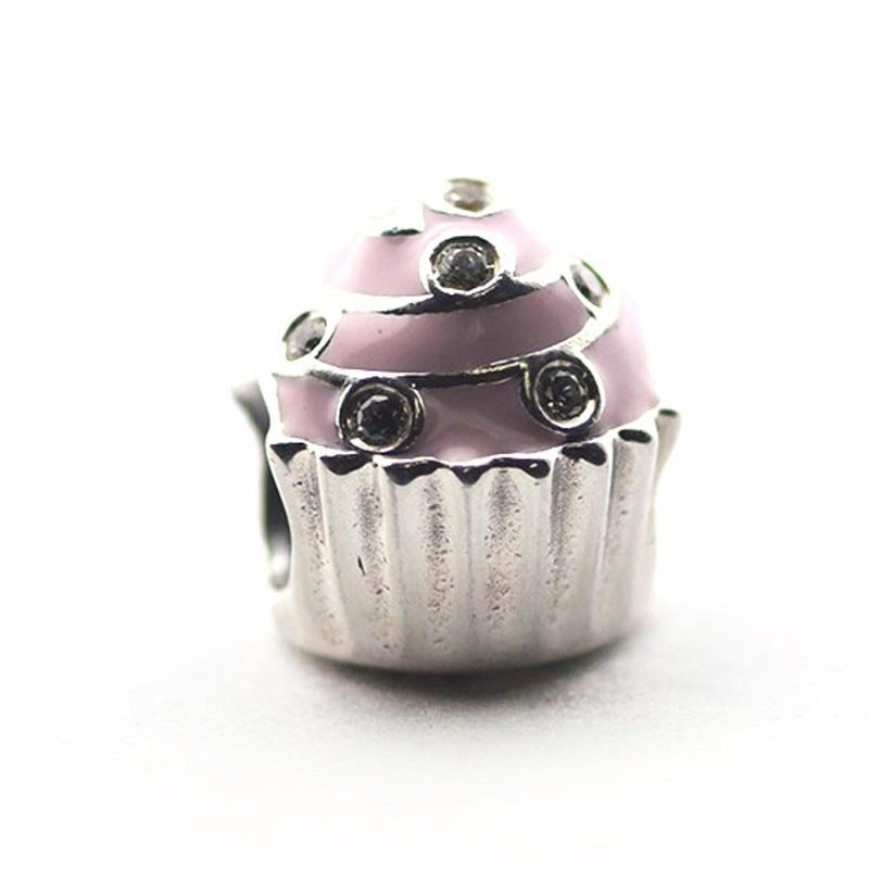 Pandulaso 925 Sterling Silver Jewelry Beads Sweet Cupcake ...
