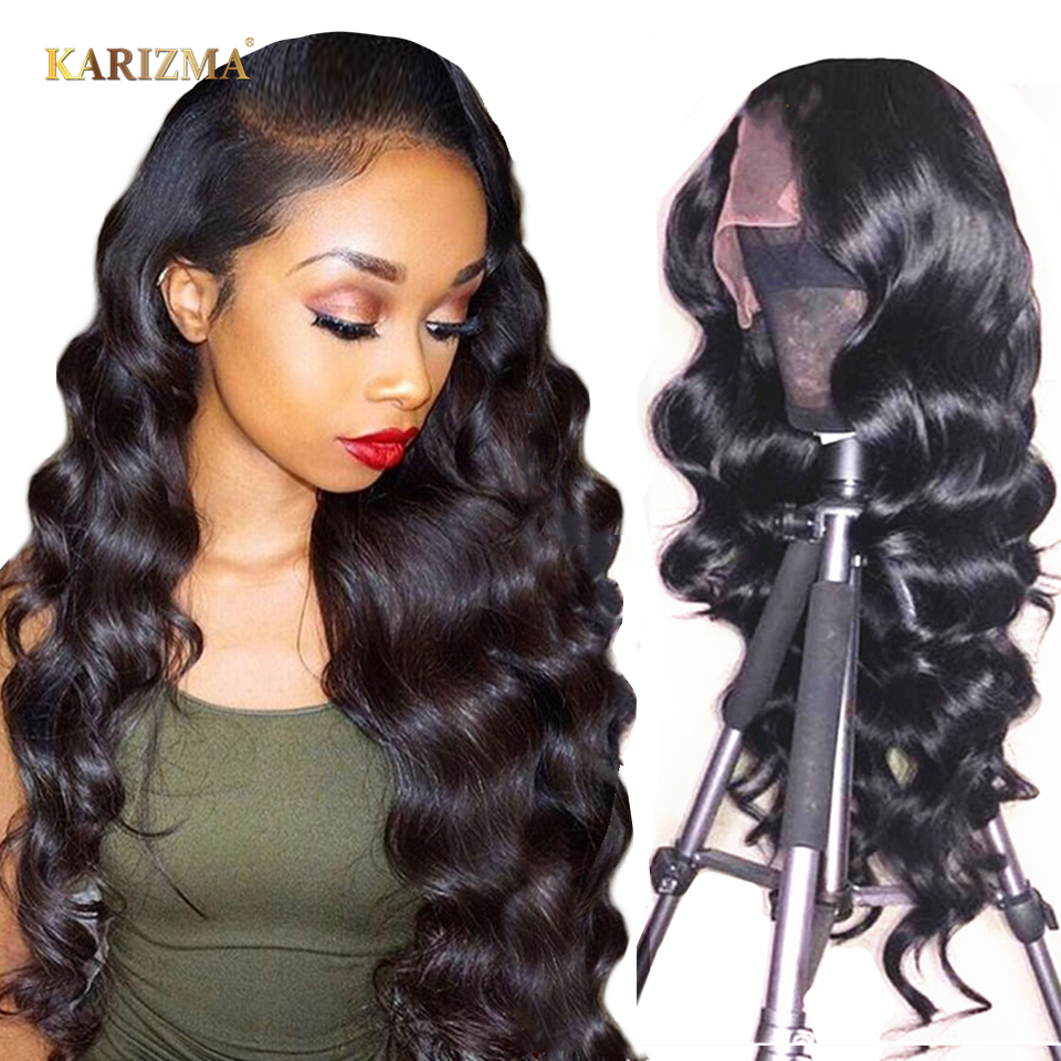 Karizma 13 4 Loose Wave Lace Front Human Hair Wigs For Women Pre Plucked Brazilian Remy