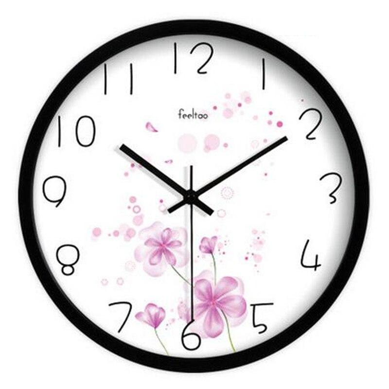 Vintage numérique horloge murale Design moderne Wandklok Klok Wanduhr horloge femmes décor à la maison grande horloge mur muet montre 2016 QQN441