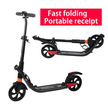 New Height Adjustable Adults Urban Young People Folding Scooter Play Two Wheels Kick Scooter Great Gift For Child High Quality