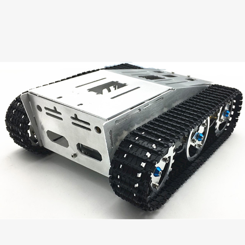 Aluminum Alloy Metal Tank Smart Crawler Robotic Chassis For DIY Intelligent RC Robot Toy Car Spare Parts F22503 1 10 rc crawler car aluminum alloy metal