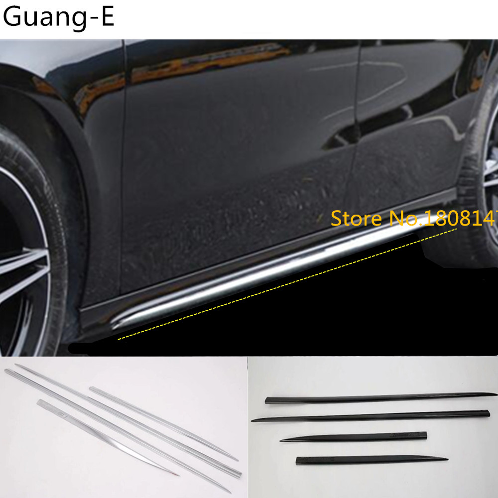 Car cover protection side body door trim stick strip molding bumper 4pcs For Mercedes Benz A Class W177 A180 <font><b>A200</b></font> A250 2019 2020 image