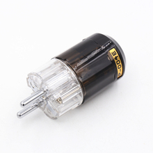 Pcs Alta Qualidade Rhodium Schuko UE P004E 2 Masculino Power Plug Conector